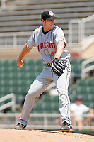 Relief pitcher Sam Brown #41 of the Hagerstown Suns in action against the Kannapolis Intimidators at Fieldcrest Cannon Stadium on May 30, 2011 in Kannapolis, North Carolina.   Photo by Brian Westerholt / Four Seam Images