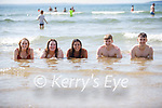 Enjoying a splash in the water in Ballybunion on Sunday, l to r: Anna Cusnaider, Gavin Byrne, Niall Murphy, Aine Crowley and Catherine O'Sullivan (Ballybunion).