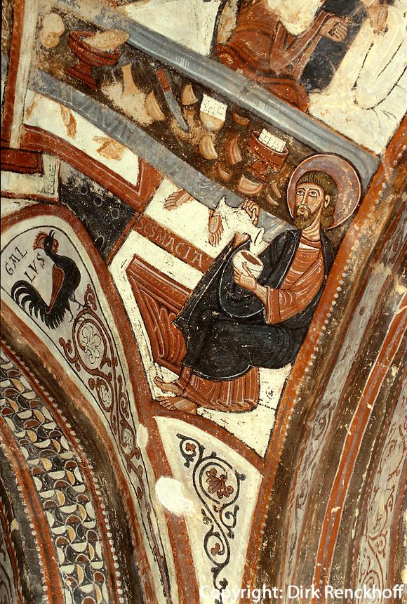 Fresken in  San Isidoro, León, , Kastilien-León, Spanien..
