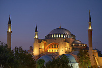 Hagia Sophia Church /Mosque in Istanbul at night