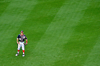 3 September 2012: Washington Nationals rookie outfielder Bryce Harper stands in the outfield in the 8th inning of a game against the Chicago Cubs at Nationals Park in Washington, DC. The Nationals edged out the visiting Cubs 2-1, in the first game of heir 4-game series. Mandatory Credit: Ed Wolfstein Photo