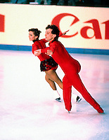 Brigit Lorenz and Knut Shubert of Germany compete at the 1984 World Figure Skating Championships in Ottawa, Canada. Photo copyright Scott Grant