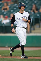 Louisville shortstop Paul Janish (17) smiles after scoring a run versus Indianapolis at Louisville Bats Field in Louisville, KY, Wednesday, August 8, 2007.
