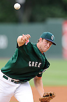 Pitcher Jacob Dahlstrand (34) of the Greenville Drive in a game against the Lexington Legends on Monday, August 18, 2013, at Fluor Field at the West End in Greenville, South Carolina. Greenville won Game 2 of a doubleheader, 1-0. (Tom Priddy/Four Seam Images)