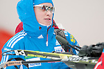 MARTELL-VAL MARTELLO, ITALY - FEBRUARY 02: Russian athlete after the Women 7.5 km Sprint at the IBU Cup Biathlon 6 on February 02, 2013 in Martell-Val Martello, Italy. (Photo by Dirk Markgraf)