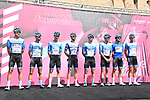 Isreal Start-Up Nation at sign on before the start of Stage 2 of the 103rd edition of the Giro d'Italia 2020 running 149km from Alcamo to Agrigento, Sicily, Italy. 4th October 2020.  <br /> Picture: LaPresse/Gian Mattia D'Alberto | Cyclefile<br /> <br /> All photos usage must carry mandatory copyright credit (© Cyclefile | LaPresse/Gian Mattia D'Alberto)