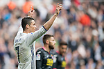 Cristiano Ronaldo of Real Madrid celebrates during the match Real Madrid vs RCD Espanyol, a La Liga match at the Santiago Bernabeu Stadium on 18 February 2017 in Madrid, Spain. Photo by Diego Gonzalez Souto / Power Sport Images