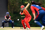 Zhou Caiyun of China during their ICC 2016 Women's World Cup Asia Qualifier match between China and Nepal on 11 October 2016 at the Kowloon Cricket Club in Hong Kong, China. Photo by Marcio Machado / Power Sport Images