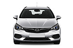 Car photography straight front view of a 2020 Opel Astra-Sport-Tourer Edition 5 Door Wagon Front View