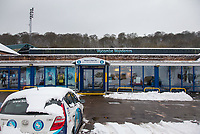 Wycombe Wanderers Football Club - Snowfall in High Wycombe, Buckinghamshire on 1 February 2019. Photo by Andy Rowland.