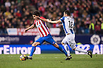 Tiago Cardoso Mendes of Atletico de Madrid competes for the ball with Javi Fuego of RCD Espanyol during the La Liga match between Atletico de Madrid and RCD Espanyol at the Vicente Calderón Stadium on 03 November 2016 in Madrid, Spain. Photo by Diego Gonzalez Souto / Power Sport Images