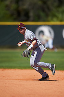 Central Michigan Chippewas second baseman Jason Sullivan (10) during practice before a game against the Boston College Eagles on March 3, 2017 at North Charlotte Regional Park in Port Charlotte, Florida.  Boston College defeated Central Michigan 5-4.  (Mike Janes/Four Seam Images)
