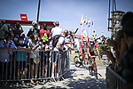 Cofidis arrive at sign on before the start of Stage 16 of La Vuelta d'Espana 2021, running 180km from Laredo to Santa Cruz de Bezana, Spain. 31st August 2021.     <br /> Picture: Charly Lopez/Unipublic   Cyclefile<br /> <br /> All photos usage must carry mandatory copyright credit (© Cyclefile   Unipublic/Charly Lopez)