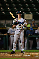 Tampa Tarpons Cooper Bowman (12) bats during Game One of the Low-A Southeast Championship Series against the Bradenton Marauders on September 21, 2021 at LECOM Park in Bradenton, Florida.  (Mike Janes/Four Seam Images)
