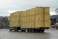Big bales of barley straw on a lorry.....Copyright John Eveson 01995 61280..j.r.eveson@btinternet.com