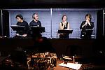 AIR<br /> <br /> Conception : Vincent DUPONT<br /> Danse : Aline LANDREAU, Vincent DUPONT<br /> Chant : Anne GARCENOT, Valérie JOLY, Fabrice AUGÉ-DEDIEU, Wahid LAMAMRA<br /> Composition musicale : Valérie JOLY<br /> Textes : Charles PENNEQUIN<br /> Lumière : Yves GODIN<br /> Son : Maxime FABRE<br /> Costumes : Laurence ALQUIER, Christine (Kite) VOLLARD<br /> Décor : Sylvain GIRAUDEAU<br /> Accessoires scénographiques : Benoît LEVEQUE<br /> Collaboration artistique : Myriam LEBRETON<br /> Régie générale : Nicolas BARROT, Sylvain GIRAUDEAU<br /> Régie lumière : Arnaud LAVISSE<br /> Lieu : Odéon<br /> Ville : Nîmes<br /> Date : 13/11/2013<br /> © Laurent Paillier / photosdedanse.com