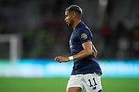 ORLANDO, FL - JULY 20: Ariel Lassiter #11 of Costa Rica runs towards the ball during a game between Costa Rica and Jamaica at Exploria Stadium on July 20, 2021 in Orlando, Florida.