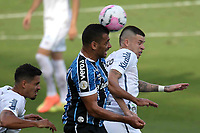 Santos (SP), 11.10.2020 - Santos-Grêmio - O jogador diego souza e jobson. Partida entre Santos e Grêmio valida pela 15. rodada do Campeonato Brasileiro neste domingo (11) no estadio da Vila Belmiro em Santos.