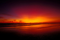Sunset on Long Beach, Pacific Rim National Park on Vancouver Island, British Columbia, Canada.