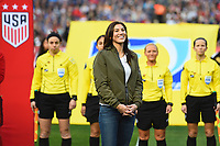 San Diego, CA - Sunday January 21, 2018: Hope Solo prior to an international friendly between the women's national teams of the United States (USA) and Denmark (DEN) at SDCCU Stadium.