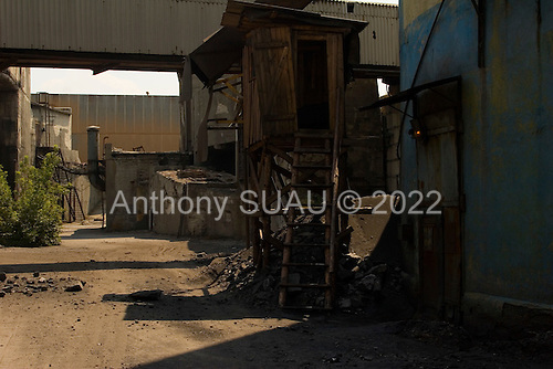 Gorlivka, Ukraine.July 31, 2005..The some what abandoned coal-mine of the ?Artemugol? union........