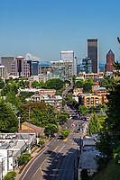 A beautiful summer day in downtown Portland, Oregon.