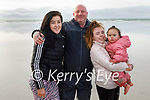 Enjoying a stroll on the beach in Ballyheigue on Sunday, l to r: Alan Black, Shannon Mahoney, Yasmin Slattery and Kaaliyaa Parker.