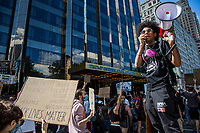 NEW YORK, NEW YORK - JUNE 07: Protesters march next to the Donald Trump Tower near Central Park on June 7, 2020 in New York, NY. Protesters continue to take to the streets across the United States and other parts of the world after the murder of George Floyd by a white police officer Derek Chauvin. The protests attempt to give voice to the need for African American human rights. (Photo by Pablo Monsalve / VIEWpress )