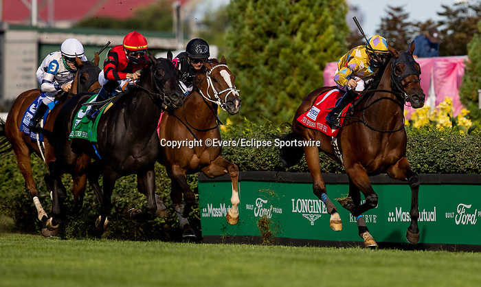 September 4, 2020: Diamond Oops with Joe Talamo wins the Churchill Downs Turf Sprint at Churchill Downs in Louisville, Kentucky, on September 04, 2020. Evers/Eclipse Sportswire/CSM