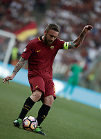 Calcio, Serie A: Roma, stadio Olimpico, 28 maggio 2017.<br /> AS Roma's Daniele De Rossi in action during the Italian Serie A football match between AS Roma and Genoa at Rome's Olympic stadium, May 28, 2017.<br /> Francesco Totti's final match with Roma after a 25-season career with his hometown club.<br /> UPDATE IMAGES PRESS/Isabella Bonotto