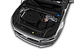 Car Stock 2018 Volvo S90 Inscription 4 Door Sedan Engine  high angle detail view