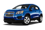 Stock pictures of low aggressive front three quarter view of 2016 Chevrolet Trax LS 5 Door SUV Low Aggressive