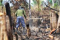LÁBREA, AM, 05.09.2019: LÁBREA-DESMATAMENTO. Área desmatada e queimada para plantar madioca, na manhã desta quinta-feira (5), em zona rural da cidade de Lábrea, no interior do Amazonas.<br /> Foto: Sandro Pereira/Codigo19