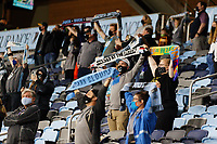 SAINT PAUL, MN - MAY 12: Minnesota United FC Fans celebrate the win during a game between Vancouver Whitecaps and Minnesota United FC at Allianz Field on May 12, 2021 in Saint Paul, Minnesota.