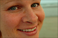 Close up photo of a woman with nice light on her face. Model released.