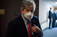 United States Senator John Neely Kennedy (Republican of Louisiana) fields questions from reporters regarding President Trump's recent remarks about slowing down testing for COVID-19 as he arrives for the GOP luncheon in the Hart Senate Office Building on Capitol Hill in Washington, DC., Tuesday, June 23, 2020. <br /> Credit: Rod Lamkey / CNP/AdMedia