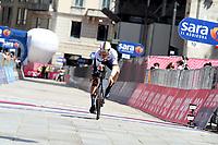 30th May 2021; 104th Giro d Italia 2021, 21st stage Senago to Milan, Italy;  IneGrenadiers Ganna, Filippo Milano crosses the finish line