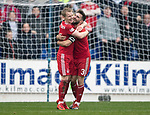 St Johnstone v AberdeenÖ23.02.19Ö  McDiarmid Park    SPFL<br /> Graeme Shinnie celebrates his second goal with Gary Mackay-Steven<br /> Picture by Graeme Hart. <br /> Copyright Perthshire Picture Agency<br /> Tel: 01738 623350  Mobile: 07990 594431