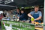 Farmers Market Highgate London UK. Fosse Meadows Farm rotisserie free range chicken,  2010s