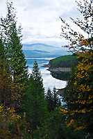 Hungry Horse Reservoir in Fall