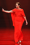 Actress Lauren Holly walks runway in a red dress, for the Red Dress Collection 2017 fashion show, for The American Heart Association, presented by Macy's at the Hammerstein Ballroom in New York City on February 9, 2017; during New York Fashion Week Fall 2017.
