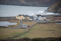 Wednesday 19 February 2014<br /> Pictured: View of Newgale, Pembrokeshire<br /> Re: Prime Minister David Cameron Visits Flood victims at the Duke of Edinburgh public house in Newgale, Pembrokeshire, Wales