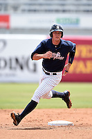 Tampa Yankees catcher Peter O'Brien (24) during a game against the Daytona Cubs on April 13, 2014 at George M. Steinbrenner Field in Tampa, Florida.  Tampa defeated Daytona 7-3.  (Mike Janes/Four Seam Images)