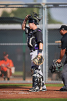 Colorado Rockies Brian Serven (95) during an Instructional League game against the San Francisco Giants on October 8, 2016 at the Giants Baseball Complex in Scottsdale, Arizona.  (Mike Janes/Four Seam Images)