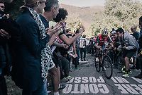 Enrico Gasparotto (ITA/Bahrain Merida) up the infamous Muro di Sormano (avg 17%/max 25%)<br /> <br /> Il Lombardia 2017<br /> Bergamo to Como (ITA) 247km