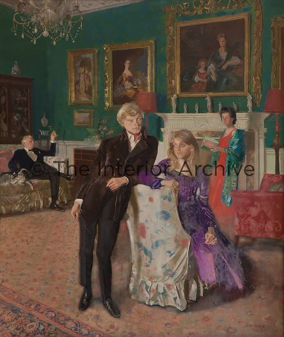 A portrait of the Scudamore family at Kentchurch Court
