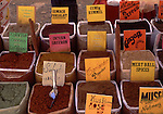 Asian, TUR, Turkey, Aegean, Kusadasi, Market Stall, Spice Rack