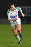 OHL's Hannah Eurlings (9) pictured during a female soccer game between  AA Gent Ladies and Oud Heverlee Leuven on the 9th matchday of the 2020 - 2021 season of Belgian Scooore Womens Super League , friday 11 th of December 2020  in Oostakker , Belgium . PHOTO SPORTPIX.BE | SPP | DIRK VUYLSTEKE