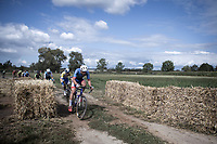 Adrien Petit (FRA/Total Direct Energie) leading the chasing group on a off-road sector<br /> <br /> Antwerp Port Epic 2019 <br /> One Day Race: Antwerp > Antwerp 187km<br /> <br /> ©kramon