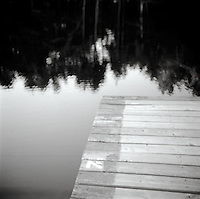 Reflection of trees off pier<br />